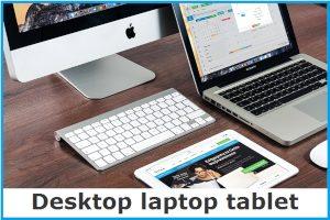 Desktop laptop tablet image link
